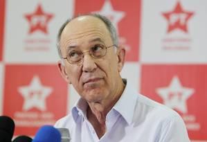 O presidente nacional do PT, Rui Falcão Foto: Michel Filho/27-10-2014