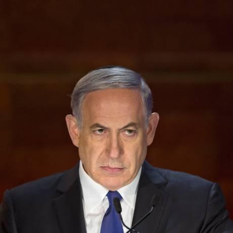Benjamin Netanyahu. Primeiro-ministro israelense acusou o Irã de tentar dominar o Oriente Médio aniquilando o Estado judeu Foto: Sebastian Scheiner / AP