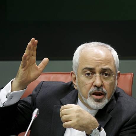 O ministro das relações exteriores do Irã, Mohammad Javad Zarif durante sua visita à Espanha Foto: REUTERS/14-4-2015