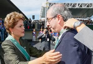 Dilma condecora presidente da Câmara Eduardo Cunha no Dia do Exército Foto: PR / Roberto Stuckert Filho