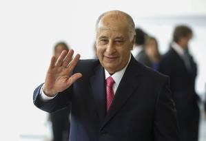 O presidente da CBF, Marco Polo del Nero, na posse no cargo Foto: Alexandre Cassiano / Agência O Globo