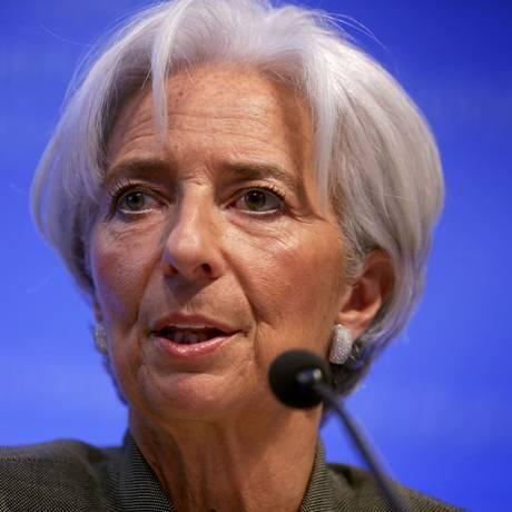 A diretora-gerente do FMI Christine Lagarde Foto: ALEX WONG / AFP