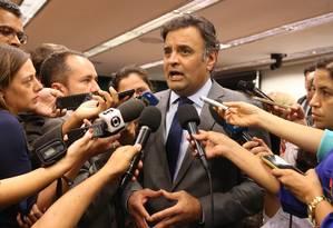 Senador Aécio Neves (PSDB-MG) e presidente Nacional do PSDB Foto: Ailton de Freitas / Agência O Globo