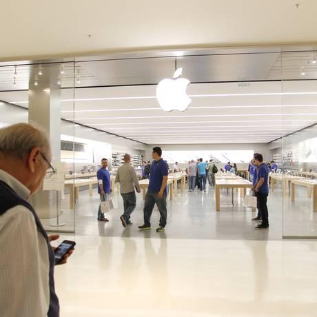 Nova loja da Apple no Morumbi Shopping em São Paulo Foto: Michel Filho / Agência O Globo