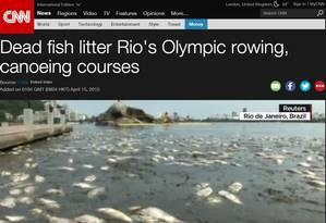 Reportagem da CNN sobre a mortandade de peixes na Lagoa Foto: Reprodução da internet