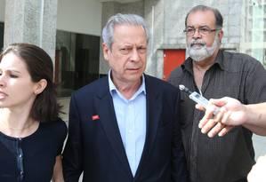 O ex-ministro da Casa Civil José Dirceu Foto: André Coelho/04-11-2014 / Agência O Globo