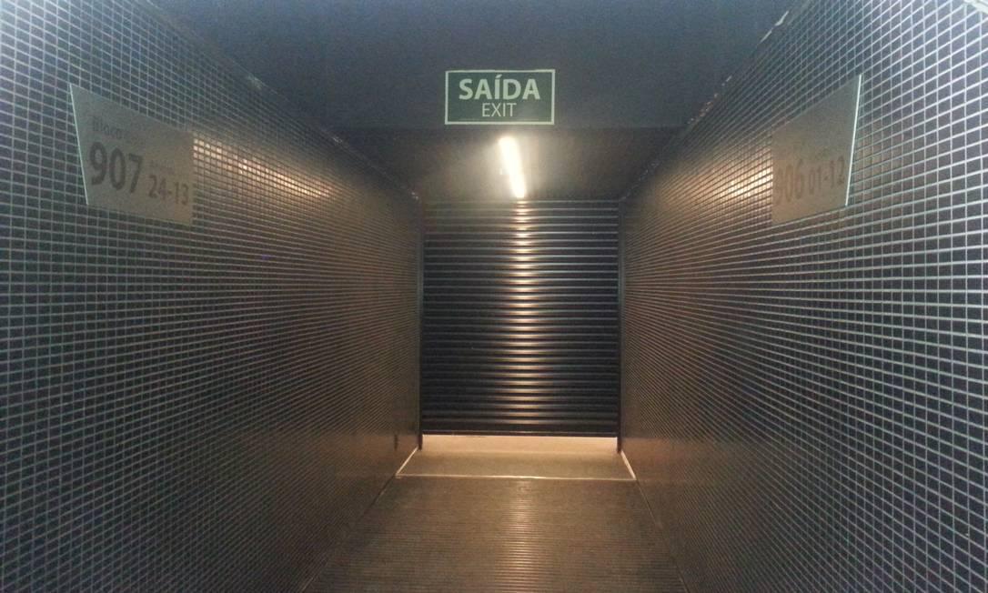 No mesmo andar, há ainda uma saída semiaberta Lauro Neto / O Globo