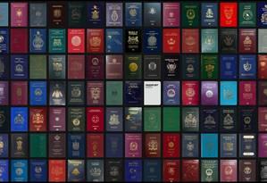 Passaportes mundiais Foto: Divulgação