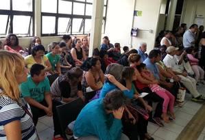 A sala de espera do posto de saúde da Freguesia do Ó, na Zona Norte de São Paulo, lotada de pacientes Foto: Fotos de Marcos Alves