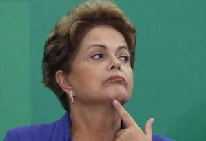 A presidente Dilma Rousseff no Palácio do Planalto Foto: Jorge William / Agência O Globo