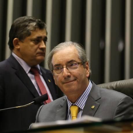 Eduardo Cunha saiu em defesa de Dilma ao comentar 'pedaladas fiscais' Foto: Ailton de Freitas / Arquivo Agência O Globo