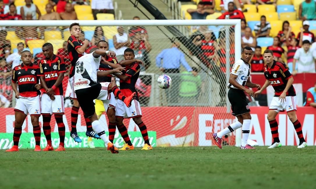 Flamengo e Vasco disputaram clássico emocionante no Maracanã Cezar Loureiro / Agência O Globo