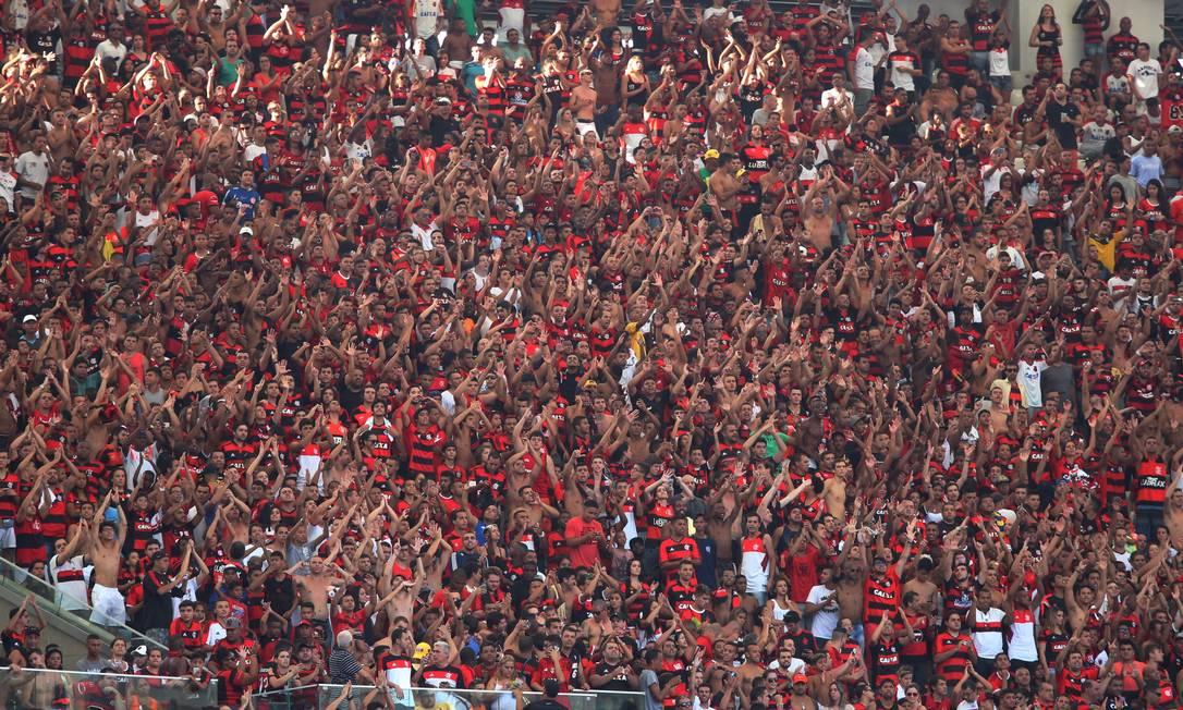 Torcida do Flamengo no Maracanã Cezar Loureiro / Agência O Globo