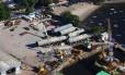Equipamentos da Petrobras que seriam usados no Comperj foram estocados em depósito na Ilha do Governador
