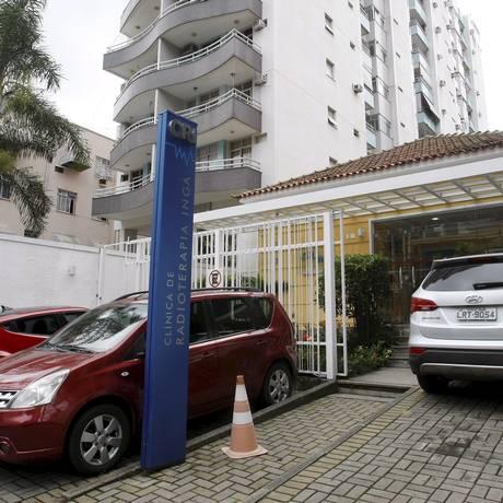 Clínica de Radioterapia do Ingá: na unidade privada fica a única máquina de radioterapia disponível na região apara atendimento a pacientes do SUS Foto: Luiz Ackermann / Agência O Globo
