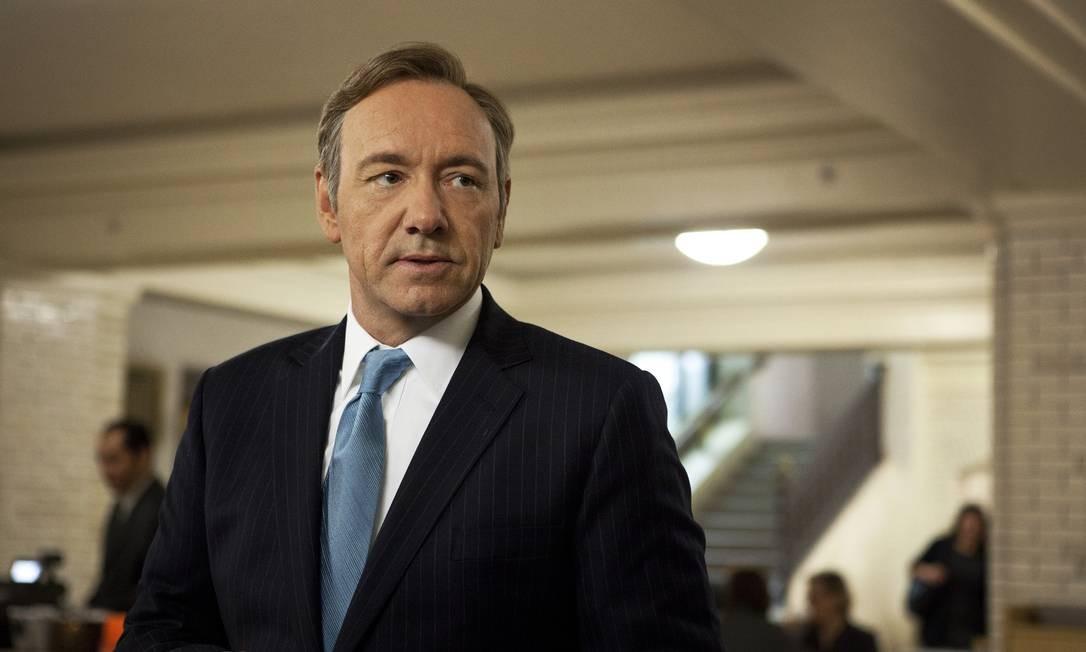 Kevin Spacey no papel de Frank Underwood na série 'House of cards' Foto: Melinda Sue Gordon / AP
