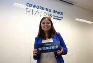 Mariana Vasconcelos, 23 anos, vencedora do Call to Inovation 2015 Foto: Divulgação Fiap