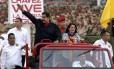 Presidente Nicolas Maduro ao lado de sua mulher Cilia Flores, em Caracas