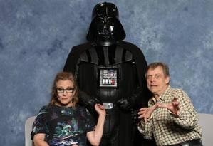 """Mark Hamill e Carrie Fisher estão no elenco de """"Star Wars VII: O Despertar da Força"""" Foto: Reprodução"""