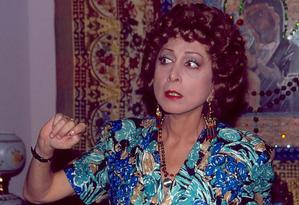 Dona Armênia, que gerou tantas gargalhadas em 'Rainha da sucata' e 'Deus nos acuda', teve trejeitos inspirados no jeito expansivo da família de Aracy Foto: Acervo / Rede Globo
