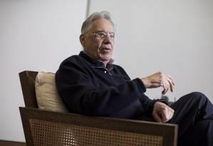 Ex-presidente Fernando Henrique Cardoso Foto: Leonardo Soares / Agência O Globo