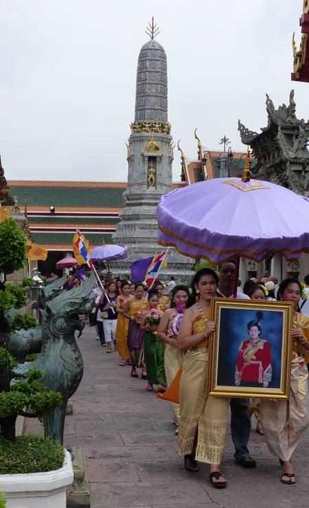 Wat Pho, conhecido também como o Templo do Buda Reclinado Foto: Marcelo Carnaval / Agência O Globo