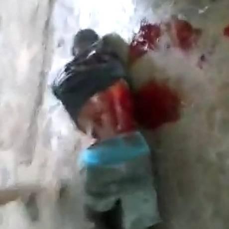 Um dos presos mortos durante rebelião em Teresina Foto: Reprodução