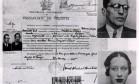 """Casal. Os passaportes falsos de Olga Benário e Luiz Carlos Prestes, líderes comunistas Foto: Reprodução do livro """"Olga"""", de Fernando Morais"""