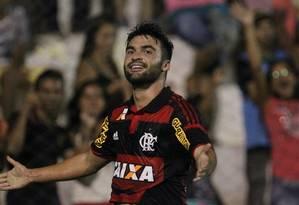 Arthur Maia comemora após abrir o placar para o Flamengo contra o Salgueiro Foto: Gilvan de Souza/Flamengo