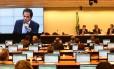 CPI da Petrobras na Câmara durante reunião para ouvir o depoimento de Augusto Mendonça Neto, Presidente da Setal Engenharia e Executivo da Toyo Setal Empreendimentos