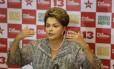 A presidente Dilma Rousseff em entrevista durante a campanha eleitoral