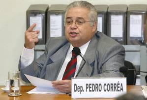 O ex-deputado Pedro Corrêa Foto: Ailton de Freitas/14-9-2005 / Agência O GLOBO