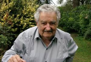 O ex-presidente do Uruguai José Mujica Foto: Sergio Flaksman / Arquivo O Globo 06/03/2014