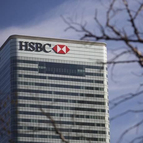 Sede do HSBC Holdings em Londres Foto: Simon Dawson / Bloomberg