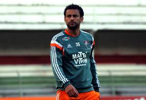Fred já treina com bola no Fluminense e não deve ser problema para a estreia no Brasileiro Foto: Divulgação/Fluminense