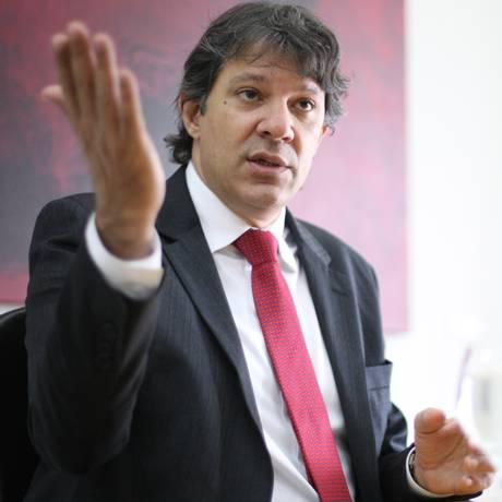 O prefeito de São Paulo, Fernando Haddad (PT) Foto: Marcos Alves/1-11-2013