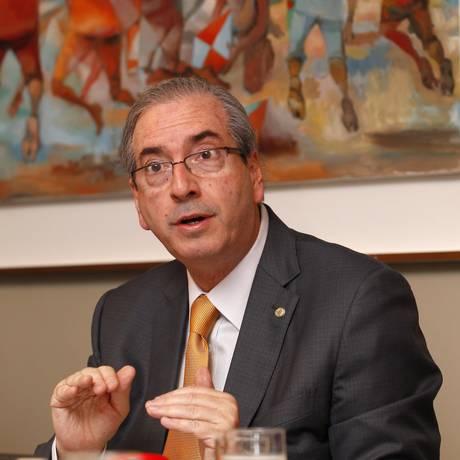O presidente da Câmara dos Deputados, Eduardo Cunha. Foto: Jorge William / Arquivo O Globo 25/03/2015