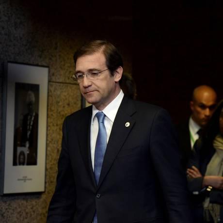 Primeiro-ministro Pedro Passos Coelho em Bruxelas: partidos dominantes sofreram saia justa após proposta virar alvo de ameaças de boicote Foto: THIERRY CHARLIER / AFP