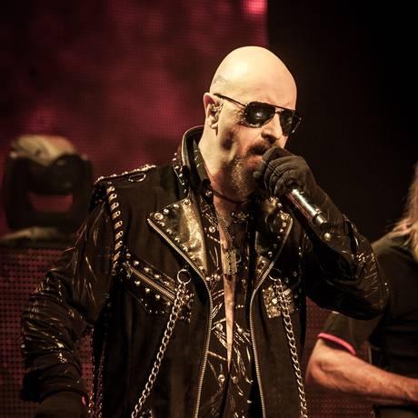Rob Halford no show do Judas Priest no Rio Foto: Ricardo Nunes / Divulgação