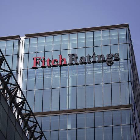 Sede da Fitch Ratings em Canary Wharf, Londres Foto: Simon Dawson / Bloomberg