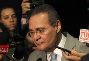 O presidente do Senado Renan Calheiros Foto: Givaldo Barbosa / Agência O Globo