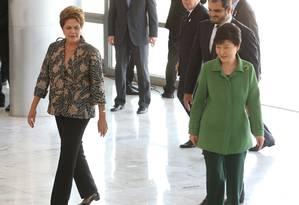 Dilma recebe a presidente da Coreia do Sul, Park Geun-hye Foto: André Coelho / Agência O Globo