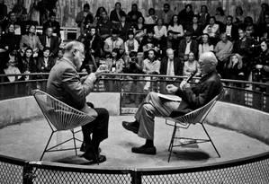 Alberto Manguel faz homenagem a Gabriel García Márquez Foto: Iván Herrera / Divulgação