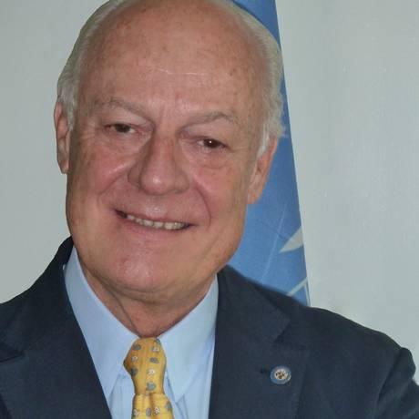 Staffan de Mistura. Enviado especial da ONU para a Síria pretende se reunir com partes envolvidas no conflito na busca de uma resolução para a guerra civil que assola o país Foto: Wikimedia Commons