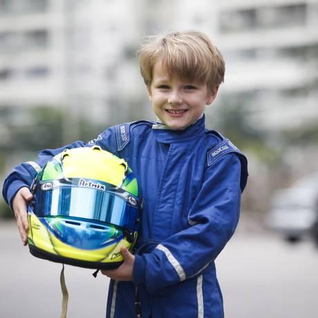 Pedro Capparelli, jovem piloto carioca de Kart Foto: Bárbara Lopes / Bárbara Lopes/31-03-2014