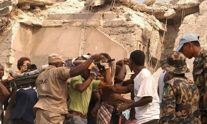 Destruição no terremoto que atingiu o Haiti, em 2010 Foto: Arquivo O Globo