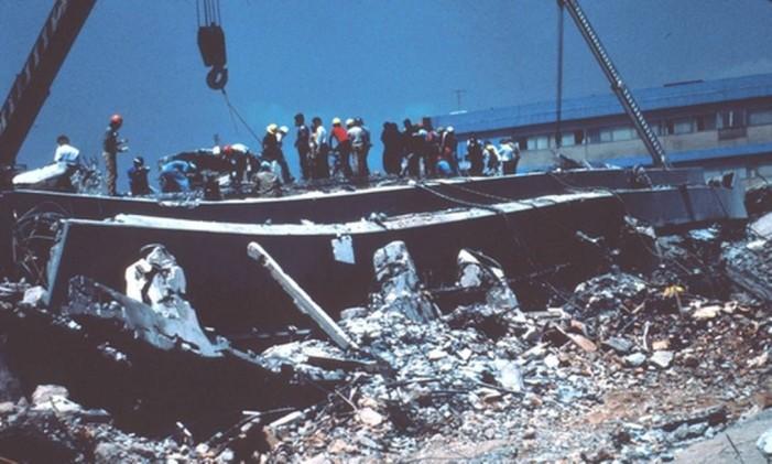 Terremoto que atingiu a Cidade do México em 1985 Foto: United States Geological Survey