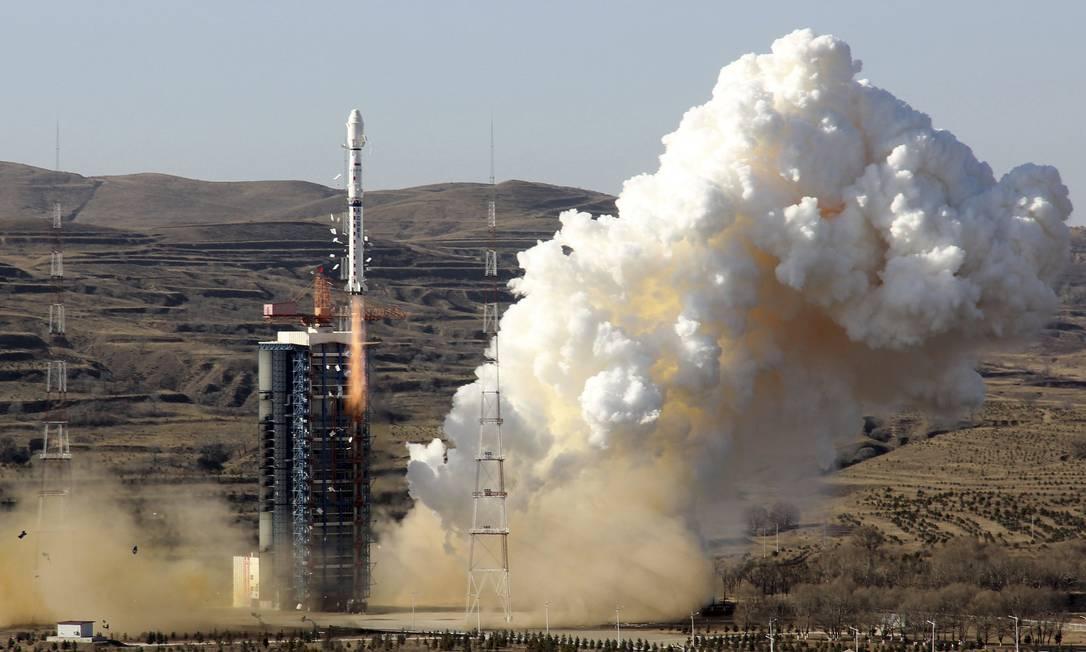 Lançamento do Cbers 4 em dezembro do ano passado Foto: CHINA STRINGER NETWORK / REUTERS