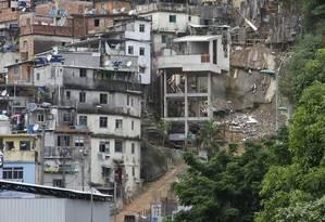 Teleférico da Rocinha: obras previstas para 2010 estão atrasadas Foto: Marcelo Carnaval