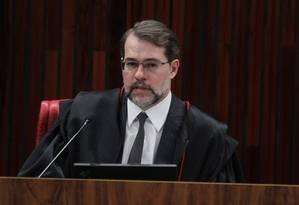 Presidente do TSE, ministro Dias Toffoli, em plenário do tribunal em Brasilía Foto: Ailton de Freitas / Agência O Globo